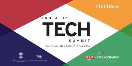 India-UK Tech Summit, Taj Palace, New Delhi, 7-9 Nov 2016
