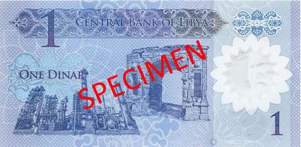 Libya - 1 Dinar front