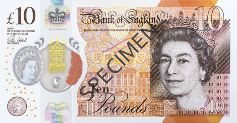 uk ten pound front image