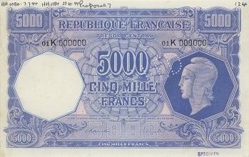 1939 War II France Note